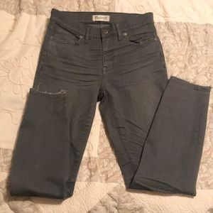 Madewell high riser skinny grey wash